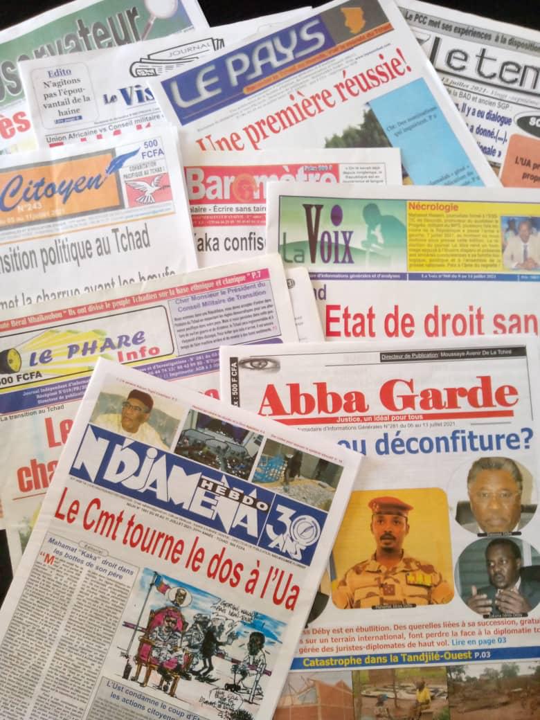 Tchad : la revue de la presse du 5 au 11 juillet 2021.