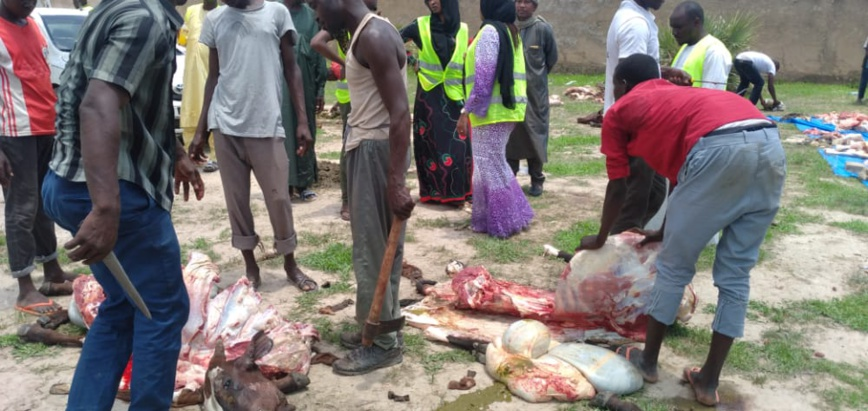 Tchad : Help for Miskine distribue de la viande aux démunis de N´Djamena