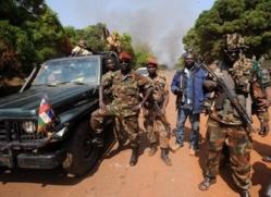 Rebelles du Séléka en janvier. SIA KAMBOU / AFP