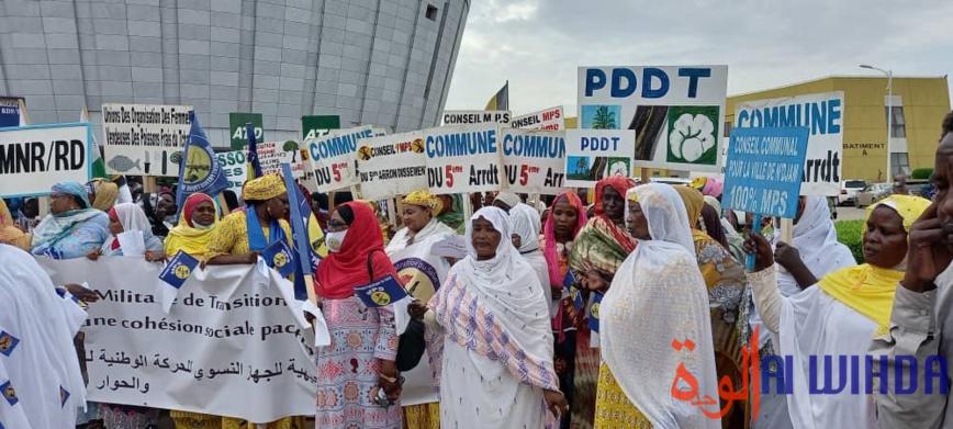 Tchad : des femmes formulent des recommandations au CMT à l'issue d'une marche