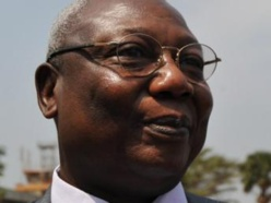Le président du MLPC, Martin Ziguélé, à Bangui, le 7 janvier 2013. AFP/Sia Kambou