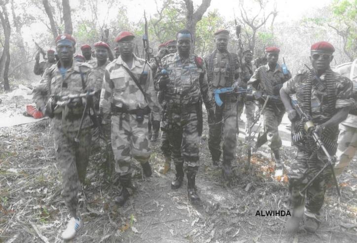 Les combattants du FDPC autour du Général Abdoulaye Miskine. 5 avril 2013. ALWIHDA