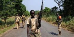 Des jeunes combattants de la Séléka. Centrafrique. Crédit photo : Sources