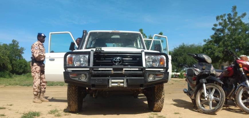 Tchad : la gendarmerie retrouve un véhicule humanitaire volé devant un hôtel