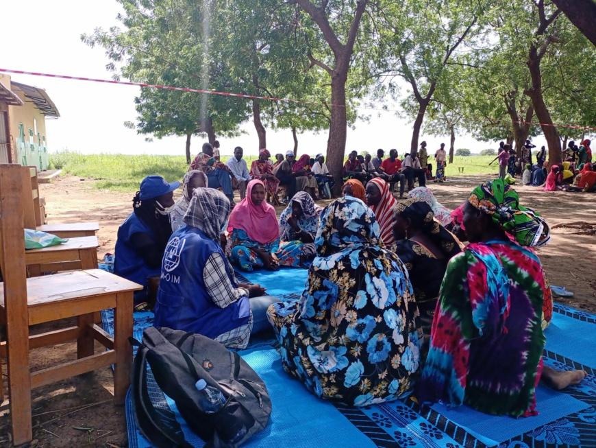 Des retournés tchadiens à la suite des violences intercommunautaires au Nord du Cameroun. Illustration © OIM