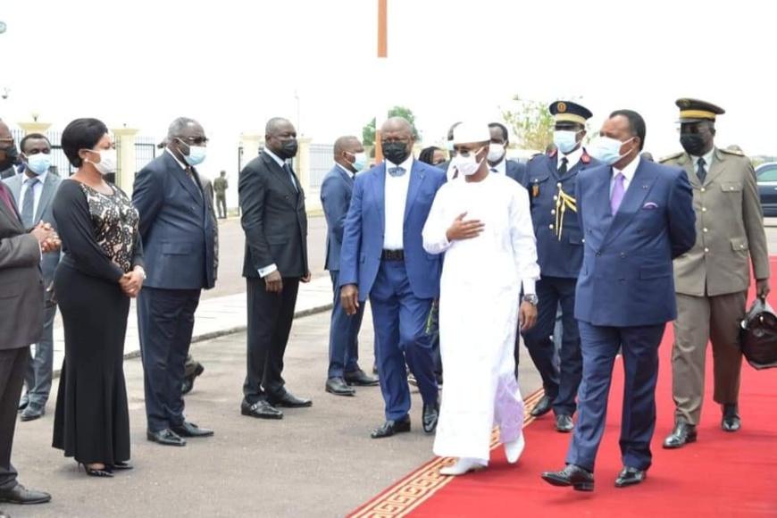Arrivée de Mahamat Idriss Deby Itno à Brazzaville
