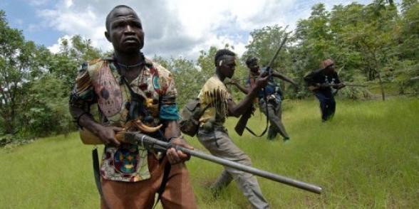 Des hommes de la Séléka. Photo non datée. Crédit photo : Sources