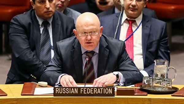 Vassili Nebenzia, représentant permanent de la Russie auprès de l'ONU. © Sputnik . Nancy Sissel