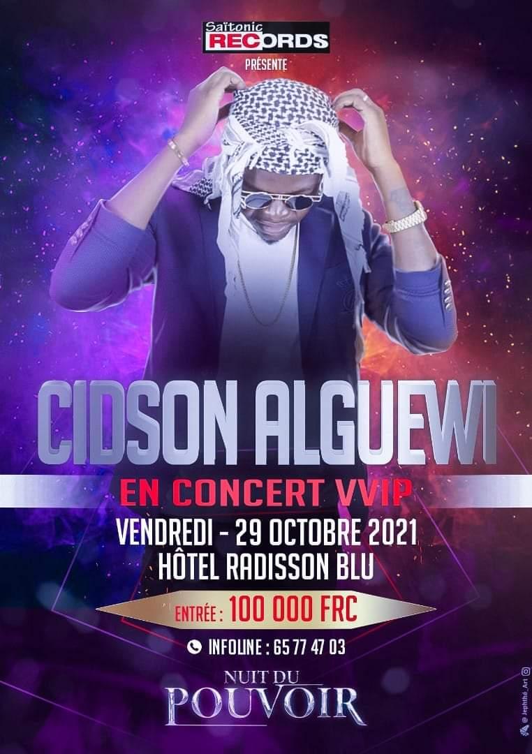 Tchad : l'artiste Cidson Alguewi fixe à 100.000 Fcfa l'entrée à son concert