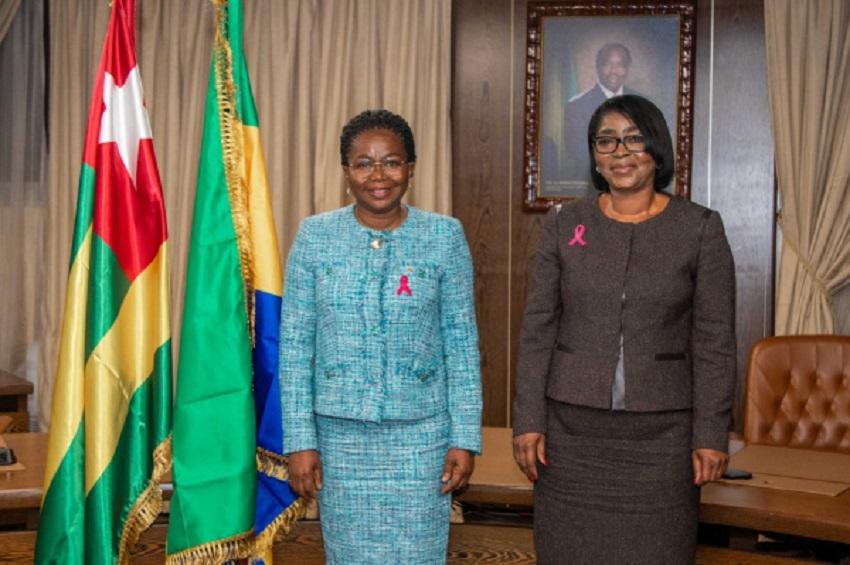 Victoire Tomegah Dogbé en visite de travail à Libreville