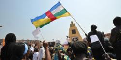 Manifestation en Centrafrique le 28 décembre.   AFP/SIA KAMBOU