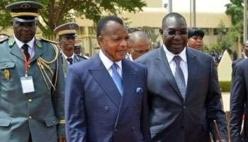 © africatime.com  Le président congolais Denis Sassou Nguesso et son homologue centrafricain Michel Djotodia