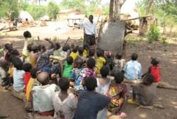Une classe en Centrafrique. Crédit photo : Sources