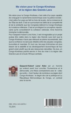 La vision de Gaspard-Hubert pour le Congo-Kinshasa et la région des Grands Lacs