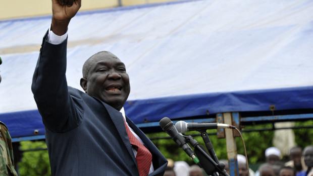 Michel Djotodia, qui a pris le pouvoir le 24 mars en Centrafrique au terme de l'offensive éclair des rebelles du Séléka. / Crédits : SIA KAMBOU / AFP