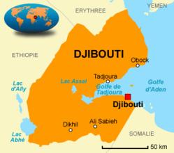 La carte de Djibouti. Crédit photo : Sources