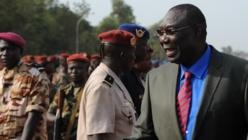 Le président centrafricain Michel Djotodia, le 30 novembre 2013 à Bangui (Centrafrique). (SIA KAMBOU / AFP)