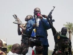 Le président François Bozizé tient son dernier meeting le 27 décembre 2012, à Bangui. Il sera évincé du pouvoir en mars 2013. REUTERS/Stringer