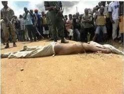 En Centrafrique, un homme musulman vient d'être lynché par la foule. Crédit photo : Sources