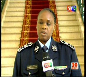Anna Sémou Faye, Directrice générale de la Police sénégalaise.