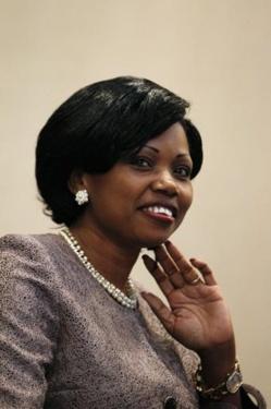 La ministre des Affaires étrangères du Centrafrique, Léonie Banga-Bothy, lors du sommet africain à Paris, le 7 décembre 2013. Crédit photo : Pool/AFP