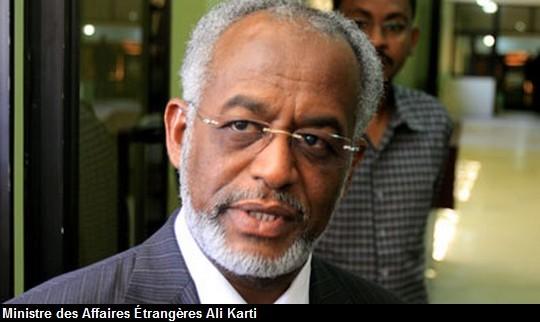 Le ministre soudanais des Affaires Etrangères, Ali Karti. Crédit photo : Sources