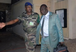 Michel Djotodia avec l'un de ses gardes du corps. Crédit photo : Sources