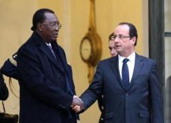 Le Président Idriss Déby et son homologue François Hollande à Paris. Crédit photo : Elysée.