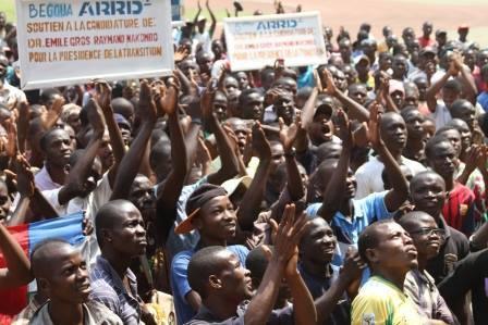 5000 jeunes réunis au stade pour demander l'élection de Nakombo à la Présidence