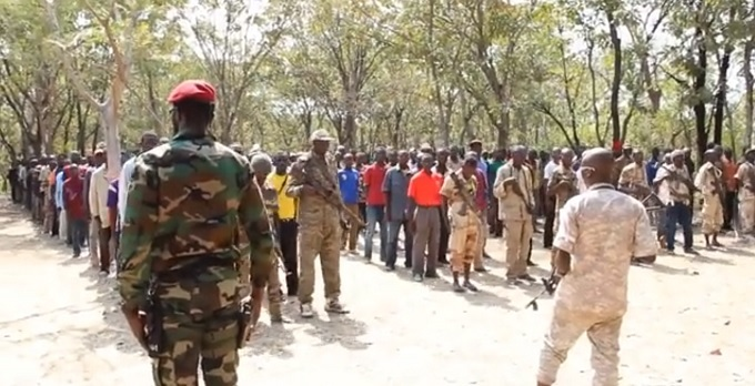 Les combattants de Révolution et Justice en Centrafrique.