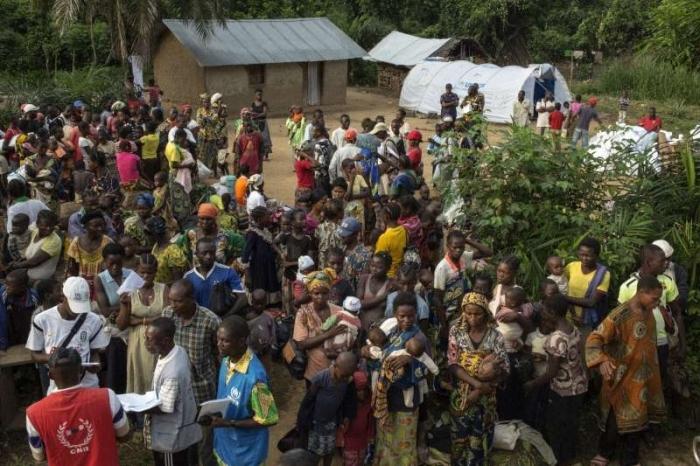 Des civils pris en charges par des organisations humanitaires en Centrafrique. Crédit photo : Sources