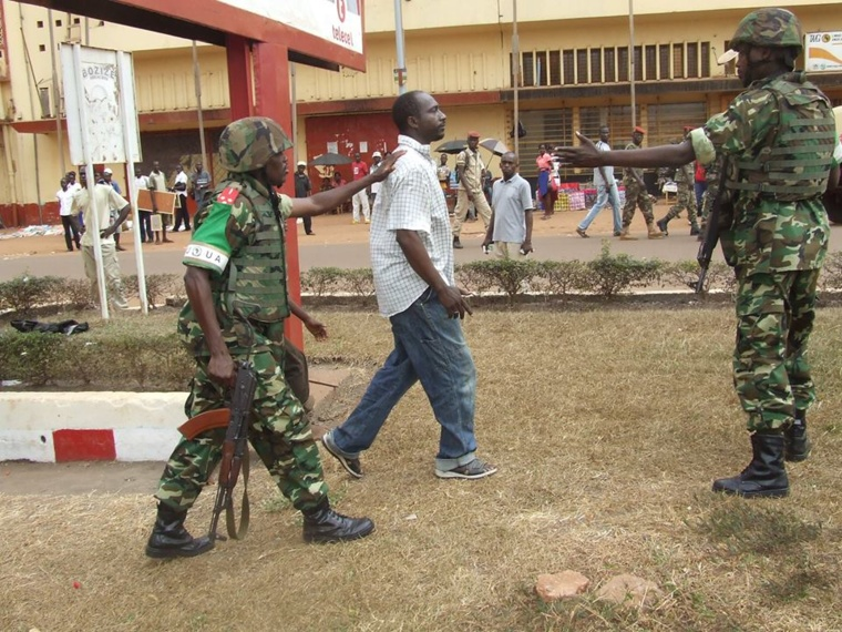 Il a été automatiquement arrêté par d'ex-FACA avant d'être remis aux soldats burundais de la MISCA. Crédit photo : Molengue Ti Beafrika