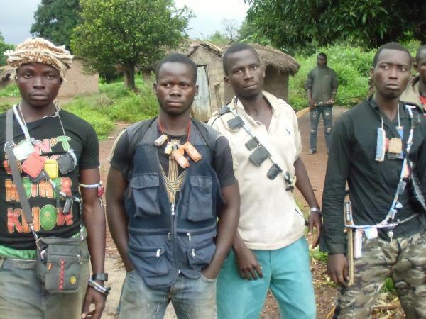 """Des miliciens """"Anti-Balaka à Bangui."""
