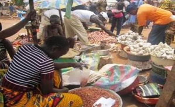 Marché en Centrafrique. Crédit photo : Sources