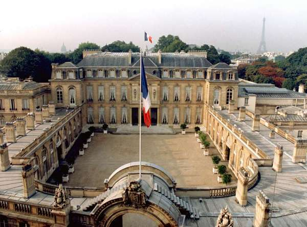 Le Palais de l'Elysée. Crédit photo : Sources