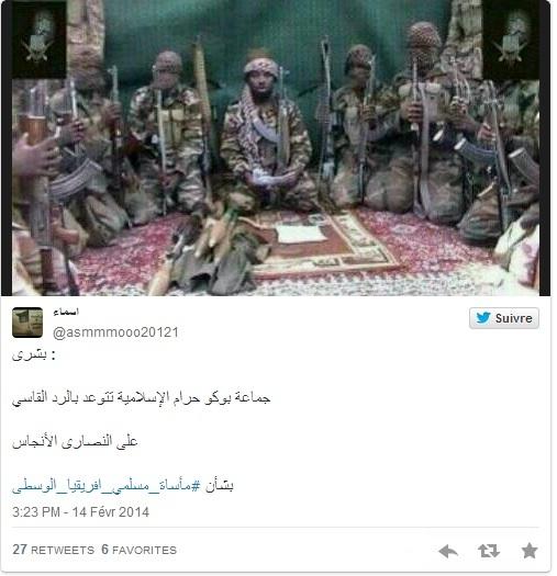 """Centrafrique : Boko Haram déclare la guerre aux Anti-Balaka """"pour venger les musulmans"""""""