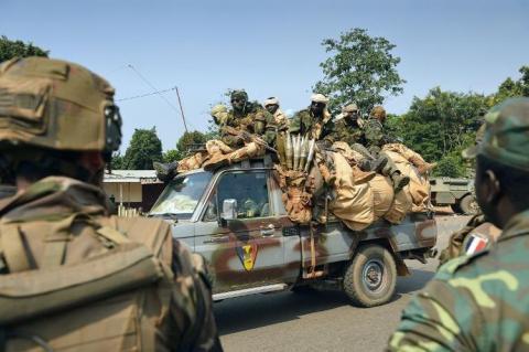 Soldats tchadiens de la MISCA. Crédit photo : Sources