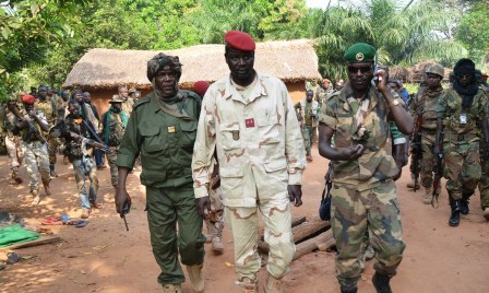 Cantonnement d'ex-Séléka. Crédit photo : Sources