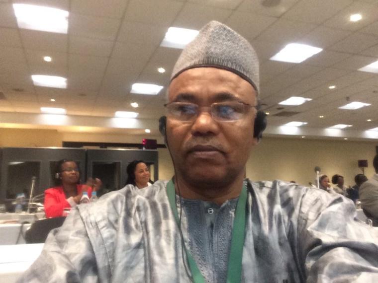 Ahmat Yacoub Dobio lors du sommet des médiateurs en Afrique du Sud