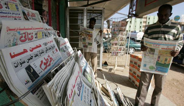 un kiosque au Soudan. afp.com/Ashraf Shazly