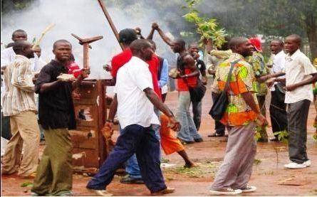 Mouvement des étudiants de Bangui. Photo non datée. Crédit photo : Sources