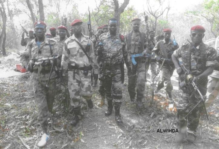 Les combattants du FDPC autour du Général Abdoulaye Miskine, peu avant son arrestation. 5 avril 2013. ALWIHDA