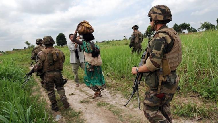 Une patrouille de l'armée française en Centrafrique. Sia kambou/AFP