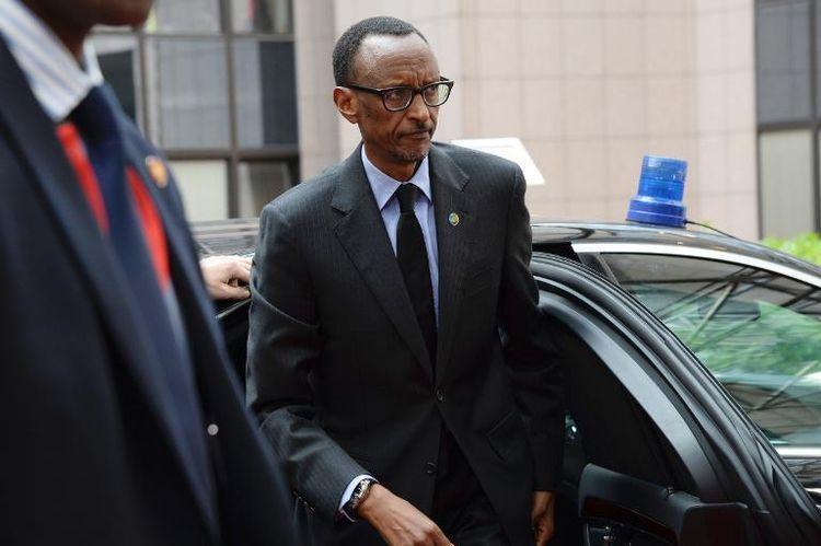 Le président rwandais Paul Kagame, à Bruxelles le 2 avril 2014 (Photo Thierry Charlier. AFP)