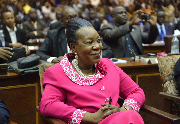 La Présidente Catherine Samba-Panza. AFP
