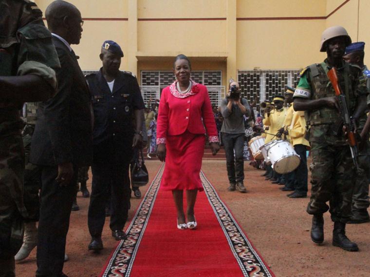 La Présidente de la Transition, Catherine Samba Panza. © SIPA PRESS