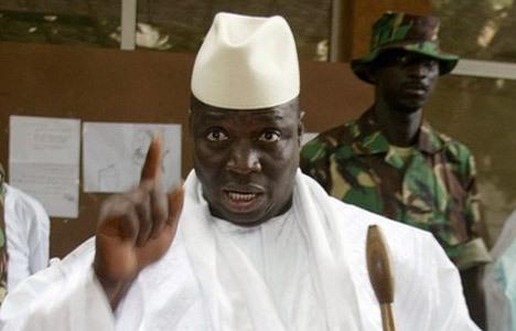 Le Président Yaya Jammeh le 17 avril 2011. Crédit photo : Sources