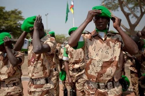 Des soldats africains de la MISCA. Crédit photo : Sources