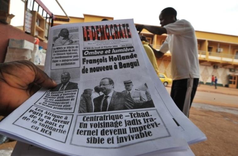 Le journal Le Démocrate. Sia Kambou/AFP