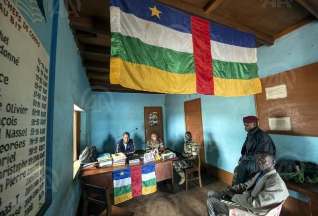 Des membres de la Séléka à Ndelé lors du congrès. Crédit photo : AA